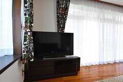 共用TVの様子。(2016-09-05,共用部,TV,1F)