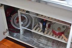 鍋類はシンク下に収納されています。(2016-09-05,共用部,KITCHEN,1F)