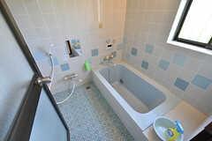 バスルームの様子。こちらは水色なので「海の湯」です。(2016-09-05,共用部,BATH,1F)
