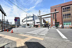 商店街の入口も駅の目の前です。(2016-09-05,共用部,ENVIRONMENT,1F)