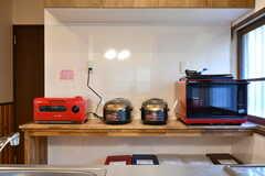 キッチン家電の様子。(2020-01-08,共用部,KITCHEN,1F)
