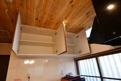 吊戸棚の様子。部屋ごとに扉1枚分使えます。(2020-01-08,共用部,KITCHEN,1F)