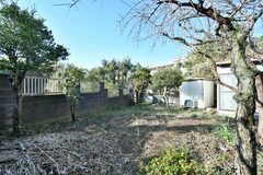 庭の様子3。建物の裏手は開けていて、菜園として使うことができます。農機具も用意される予定です。(2020-01-08,共用部,OTHER,1F)