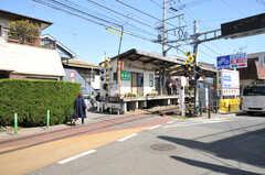江ノ島電鉄・腰越駅の様子。上りと下りの電車は1つのホームに代わる代わるやってきます。(2013-03-22,共用部,ENVIRONMENT,1F)