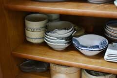 和風・洋風の料理に合う食器がいくつも用意されています。(2018-11-28,共用部,KITCHEN,2F)