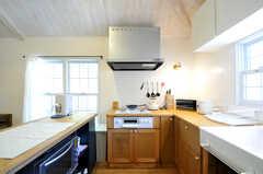 キッチンはコの字型のレイアウトです。(2013-03-12,共用部,KITCHEN,2F)