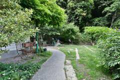 庭の様子。オーナーさんと共用です。(2021-05-18,共用部,OTHER,1F)