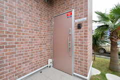 玄関ドアの様子。(2018-09-12,周辺環境,ENTRANCE,1F)