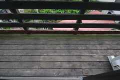ベランダの様子2。(202号室)(2012-05-08,専有部,ROOM,2F)