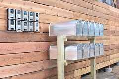 インターホンとポストは専有部ごとに用意されています。(2017-01-17,周辺環境,ENTRANCE,1F)