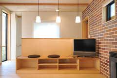 共用TVの様子。(2013-04-05,共用部,TV,1F)