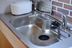 シンクの様子。シャワー水栓付きです。(2013-04-05,共用部,KITCHEN,1F)