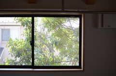 窓の様子。(204号室)(2013-04-05,専有部,ROOM,2F)
