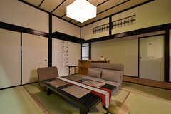 和室の様子2。廊下とつながっていて、開放感があります。(2016-06-21,共用部,LIVINGROOM,1F)