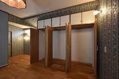 クローゼットの様子。(104号室)(2016-06-21,専有部,ROOM,1F)