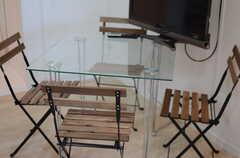 テーブルの様子。(2014-12-15,共用部,LIVINGROOM,2F)