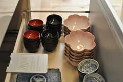 食器はひと通り揃っています。(2014-03-24,共用部,KITCHEN,1F)