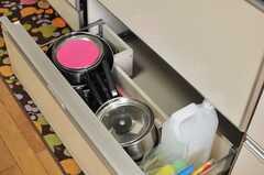 鍋類は引き出しに収納されています。(2014-06-17,共用部,KITCHEN,1F)