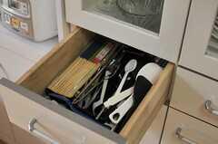 食器棚の引き出し。(2014-06-17,共用部,KITCHEN,1F)