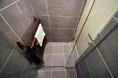 シャワールームの脱衣室の様子。(2014-05-27,共用部,BATH,2F)
