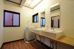 廊下に設置された洗面台の様子。同じ並びに洗濯機もあります。(2011-12-02,共用部,OTHER,2F)