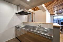 キッチンの様子2。システムキッチンが2台設置されています。(2020-03-24,共用部,KITCHEN,1F)
