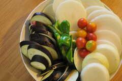 菜園で採れたばかりの野菜たち。(2011-07-17,共用部,PARTY,1F)