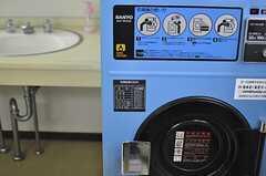 洗面スペースにおかれたコイン式の洗濯機。(2013-08-22,共用部,OTHER,1F)