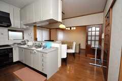シェアハウスのキッチン周りの様子。(2009-02-11,共用部,KITCHEN,1F)