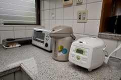 キッチン家電の様子。(2009-02-11,共用部,OTHER,1F)