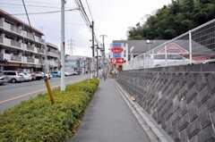 小田急小田原線生田駅からシェアハウスへ向かう道の様子。(2009-02-11,共用部,ENVIRONMENT,1F)