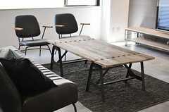 ローテーブルの様子。(2014-08-19,共用部,LIVINGROOM,1F)
