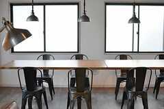 テーブルの様子。(2014-08-19,共用部,LIVINGROOM,1F)
