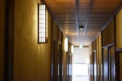 廊下の照明は和モダン。(A棟)(2019-03-01,共用部,OTHER,2F)