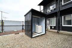 B棟側にも洗濯機が設置されています。(2019-03-01,共用部,LAUNDRY,2F)