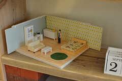オーナーさんが3Dプリンタで作った部屋の模型。モデルルームです。(301号室)(2016-09-28,専有部,ROOM,3F)