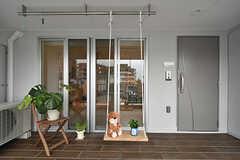 玄関まわりの様子。モデルルームです。(302号室)(2016-09-28,専有部,ROOM,3F)