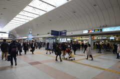 各線・川崎駅の様子。(2016-02-23,共用部,ENVIRONMENT,1F)
