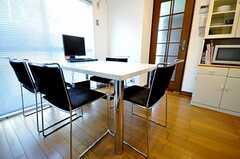 ダイニングテーブルの様子。(2009-12-23,共用部,LIVINGROOM,2F)