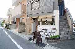 カフェの入り口の様子。(2013-04-26,共用部,OTHER,1F)