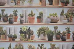 リアルな鉢植えの壁紙。(2017-04-27,共用部,LAUNDRY,1F)