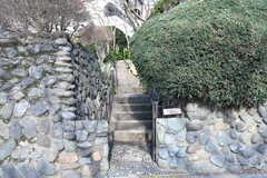 玄関は階段の先にあります。(2019-03-14,周辺環境,ENTRANCE,1F)