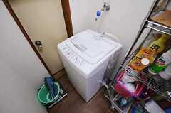 洗濯機の様子。(2011-06-01,共用部,LAUNDRY,1F)