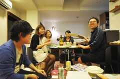 ウエルカムパーティーの様子。(2010-05-28,共用部,PARTY,1F)