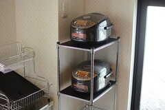 炊飯器の様子。(2017-09-28,共用部,KITCHEN,4F)