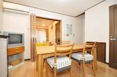シェアハウスのダイニング・エリアの様子。(2010-02-01,共用部,LIVINGROOM,1F)