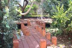 奥に進んだ先には、ガーデンテラス。(2014-09-03,共用部,OTHER,1F)