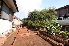 庭の一角は菜園スペースとなっています。(2014-09-03,共用部,OTHER,1F)