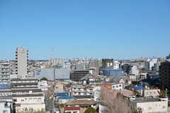 屋上からは新宿のビル群やスカイツリーが見えます。(2021-02-16,共用部,OTHER,10F)