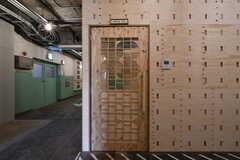 MTGルームのドア。3Dプリンタで作られています。(2018-02-27,共用部,OTHER,3F)